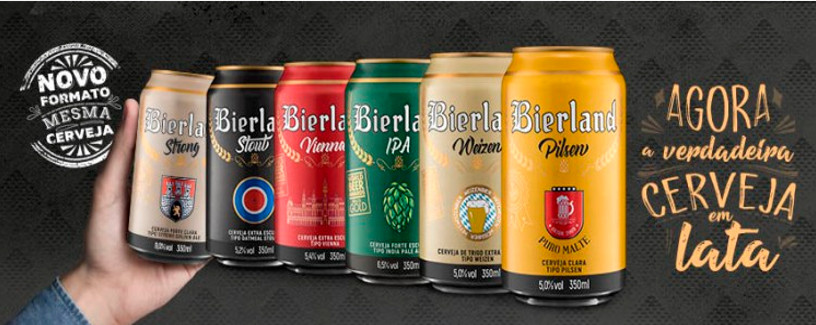 cerveja artesanal na lata bierland